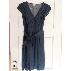 Chambray fitted dress size 12